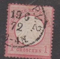 Germany Scott 17 1872 Imperial Eagle 1 Gr Rose ,used - Allemagne