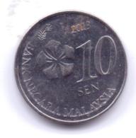 MALAYSIA 2013: 10 Sen, KM 202 - Malaysia