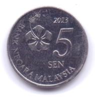 MALAYSIA 2013: 5 Sen, KM 201 - Malaysia