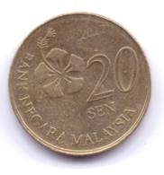 MALAYSIA 2012: 20 Sen, KM 203 - Malaysia