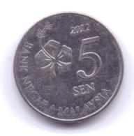 MALAYSIA 2012: 5 Sen, KM 201 - Malaysia