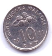 MALAYSIA 2011: 10 Sen, KM 51 - Malaysia