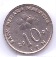 MALAYSIA 2001: 10 Sen, KM 51 - Malaysia