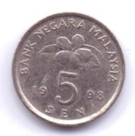 MALAYSIA 1998: 5 Sen, KM 50 - Malaysia