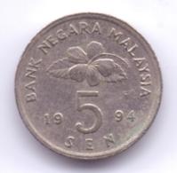 MALAYSIA 1994: 5 Sen, KM 50 - Malaysia