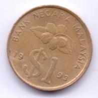 MALAYSIA 1993: 1 Ringgit, KM 54 - Malaysia