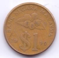 MALAYSIA 1990: 1 Ringgit, KM 54 - Malaysia