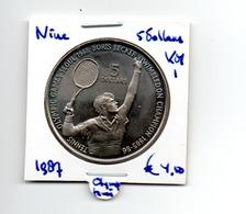 NIUE 5 DOLLARS 1987 TENNIS OLYMPICS - Niue