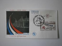 FDC 1964. Paris, Grand Palais, Exposition Philatec 1964, Lot De 2 Enveloppes, 2 Cachets Différents - FDC