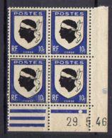 FRANCE (COINS DATES) : Y&T  N° 755  DU  29/05/1946  TIMBRES  NEUFS  SANS TRACE  DE  CHARNIERE ,   A  V0IR . - 1940-1949