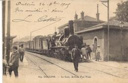 """OULLINS RHONE"""" LA GARE ,ARRIVEE D'UN TRAIN"""" N°609 - Oullins"""