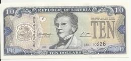 LIBERIA 10 DOLLARS 2006 UNC P 27 C - Liberia
