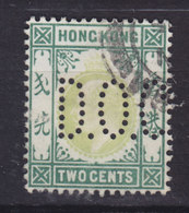 Hong Kong Perfin Perforé Lochung 'D.O.C.' 1904 Mi. 77   2c. King Edw. VII. (2 Scans) - Unused Stamps