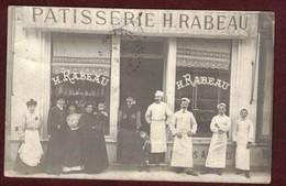 NICE Carte Photo Devanture Magasin Commerce * Patisserie H . Rabeau * Ouvrier Patissier Ouvrière Patissiers Patron - Nice