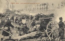 YSER 1914 - Une Batterie Belge En Action - War 1914-18