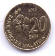 MALAYSIA 2015: 20 Sen, KM 203 - Malaysia