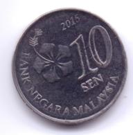 MALAYSIA 2015: 10 Sen, KM 202 - Malaysia