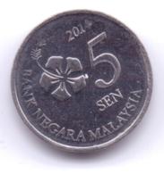 MALAYSIA 2014: 5 Sen, KM 201 - Malaysia