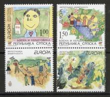 Europa CEPT 2006 Bosnie Herzégovine Adm Serbe - Bosnia - Bosnien Y&T N°343 à 344 - Michel N°366A à 367A *** - Vignette - Europa-CEPT