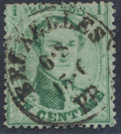 """Médaillon Dentelé - N°13 Obl Simple Cercle """"Bruxelles / PP"""" , Cachet Pour Imprimé. - 1863-1864 Medaillons (13/16)"""