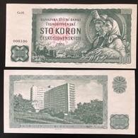 2020 Matej Gabris 100 Koron COVID 19 Coronavirus Mask Czechoslovakia UNC SPECIMEN ESSAY Tirage Limité - Fiktive & Specimen