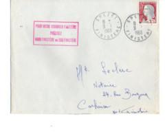 B17 09 01 1963 Lettre Spézet Carhaix Marque Spéciale De La Poste  Nord Ou Sud Finistère - Marcophilie (Lettres)