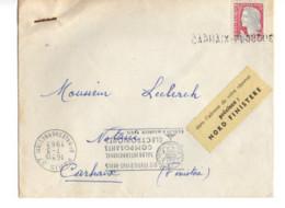 B17 07 03 1963 Lettre Paris Carhaix Etiquette Spéciale De La Poste  Nord Finistère +oblit Manuelle - Marcophilie (Lettres)