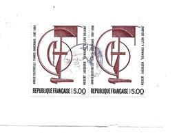 Frankreich 347/ Fragment Mit 2 Marken ( A Fr. 5.00) Dänisch/franz. Kulturausgabe Im Paar Von 1988  O - Oblitérés