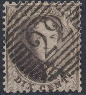 """Médaillon Dentelé - N°14 Obl P22 """"Braine-le-comte"""". Superbe Frappe - 1863-1864 Medallones (13/16)"""