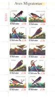 1996. El Salvador, Birds Migratory, Sheetlet, Mint/** - El Salvador