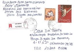 TIMBRES- STAMPS- MARCOPHILIE- LETTRE RECOMMANDÉ- PORTUGAL -TIMBRES NAVEGATEUR DIOGO GOMES ET 700 ANS DE LANGUE PORTUGAIS - 1910-... République
