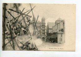 21 DIJON Ecroulement Echaffaudage Et De Ses Ouvriers Grande Place  1905   PUBLICITE  Assurances LA ZURICH     D08 2020 - Dijon