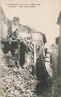 13 Lambesc Tremblement De Terre Du 11 Juin 1909 Une Rue En Ruines - Lambesc