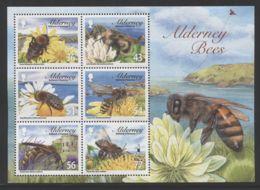 Alderney - 2009 Local Bees Block MNH__(THB-1731) - Alderney