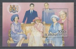 Burkina Faso - 1985 Queen Mother Block MNH__(TH-9800) - Burkina Faso (1984-...)