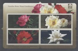 Canada - 2001 Canadian Rose Breeds Block MNH__(TH-12508) - Blocs-feuillets
