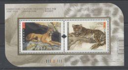 Canada - 2005 Big Cats Block MNH__(TH-7267) - Blocs-feuillets