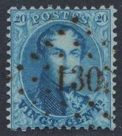 "Médaillon Dentelé - N°15 Obl Pt 130 ""Florennes"". TB - 1863-1864 Medaillen (13/16)"