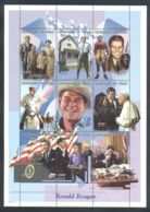 Chad - 1998 Ronald Reagan Kleinbogen MNH__(THB-1177) - Tschad (1960-...)