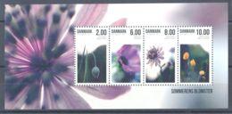Denmark - 2011 Summer Flowers Block MNH__(TH-1258) - Blocchi & Foglietti