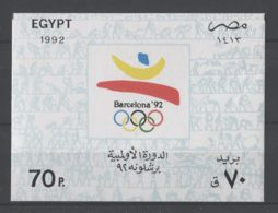 Egypt - 1992 Barcelona Block MNH__(TH-18927) - Blocs-feuillets