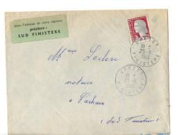 B17 25 06 1963 Lettre Spézet  Carhaix  Dept  22 29 56 35 étiquette Spéciale De La Poste - Marcophilie (Lettres)