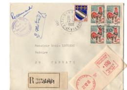 B17 22 12 1966 Lettre Recommandée Dinard  Dept  22 29 56 35 - Marcophilie (Lettres)