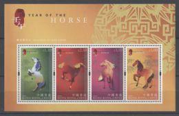 Hong Kong - 2002 Year Of The Horse Block (1) MNH__(TH-14184) - 1997-... Sonderverwaltungszone Der China