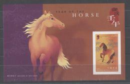 Hong Kong - 2002 Year Of The Horse Block (2) MNH__(TH-8664) - 1997-... Sonderverwaltungszone Der China