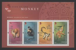 Hong Kong - 2004 Year Of The Monkey Block (1) MNH__(THB-3917) - 1997-... Sonderverwaltungszone Der China