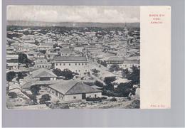 PAKISTAN Bird's Eye View. Karachi 1910 Old Postcard - Pakistan