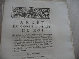 Arrêt Du Conseil D'Etat Du Roi 28/11/1742 Remise Sur Capitation - Decrees & Laws