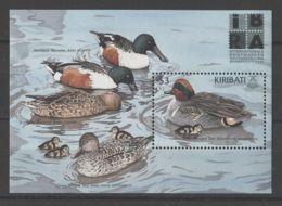 Kiribati - 1999 Native Ducks Block MNH__(TH-15597) - Kiribati (1979-...)