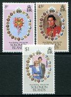 Solomon Islands 1981 Royal Wedding Set MNH (SG 445-447) - Salomoninseln (Salomonen 1978-...)